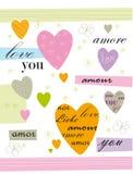 card förälskelse Royaltyfri Bild