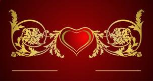 card förälskelse Arkivfoto