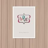 card för hälsningsillustration s för dagen eps10 vektorn för valentinen stock illustrationer