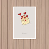 card för hälsningsillustration s för dagen eps10 vektorn för valentinen royaltyfri illustrationer