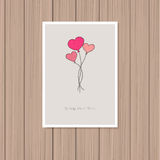 card för hälsningsillustration s för dagen eps10 vektorn för valentinen Royaltyfri Foto