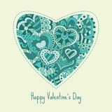 card för hälsningsillustration s för dagen eps10 vektorn för valentinen Arkivbild