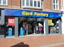Card Factory frontage stock photo