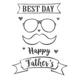 Card for father day celebration. Vector illustration Stock Photo