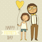 Card for father's day Royalty Free Stock Photography
