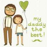 Card for father's day Stock Images