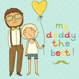 Card for father's day Stock Photo