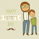 Card for father's day. Royalty Free Stock Photo