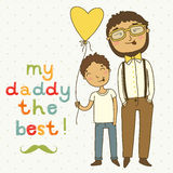 Card for fathers day Stock Photography