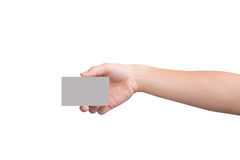 Card female hand holding Stock Photography