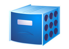 Card file. Blue box for documents with a single partition Stock Image