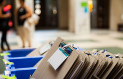 Card File in Blue Plastic Box Stock Photography