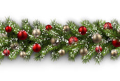 Card with fir branch Royalty Free Stock Photo