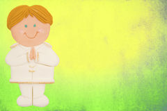 Card, first communion,boy Stock Image