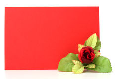 Card with floral decor Royalty Free Stock Images