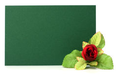 Card with floral decor Stock Image