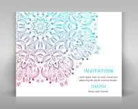 Card with floral decoration. Royalty Free Stock Image