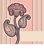 Card with floral design. Stock Images