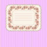 Card with floral  frame Stock Photo