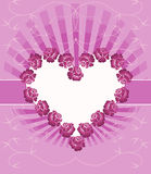Card With Floral Heart Royalty Free Stock Images