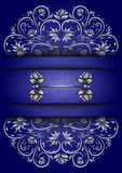 Card with floral ornament and banner Royalty Free Stock Image