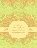 Card with floral ornament and place for text on a Royalty Free Stock Photos