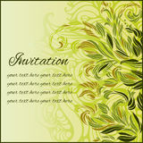Card with floral ornament Royalty Free Stock Image