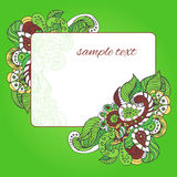 Card with floral pattern Stock Photography