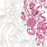 Card with floral pattern Stock Photos