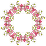 Card with floral pattern. Royalty Free Stock Images