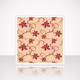 Card with Floral Seamless Pattern Royalty Free Stock Photos