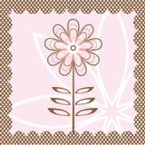 Card with flower Stock Photos
