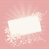 Card flower. Flower card for special occasions Royalty Free Stock Photography