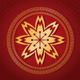 Card flower golden red background. Vector illustion eps 10 Royalty Free Stock Images