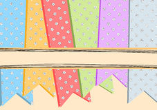 Card With Flower Ribbons Stock Images