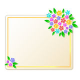 Card with flowers Royalty Free Stock Image