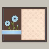 Card with flowers Royalty Free Stock Photos
