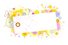 Card with flowers 3 Stock Photography
