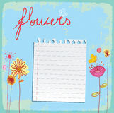 Card   flowers background Royalty Free Stock Photos