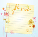 Card   flowers background Royalty Free Stock Images