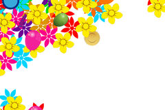 Card with flowers Stock Photography