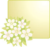 Card with flowers bouquet Stock Photography