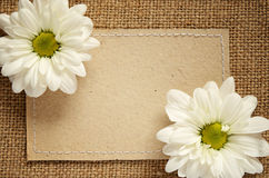 Card and flowers Stock Photography