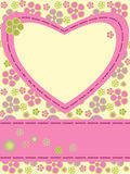 Card with flowers and heart Royalty Free Stock Images