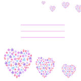 Card with flowers hearts Royalty Free Stock Photography