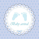 Card For Baby Boy Royalty Free Stock Photo