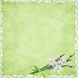 Card For Holiday With Flowers Royalty Free Stock Images
