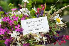 Card For Recovery With Meadow Flowers Royalty Free Stock Photos