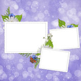 Card For The Holiday With Flowers Stock Photos
