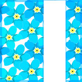 Card of forget-me-alpine a wild flower  vector illustration Stock Photo